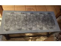 Slate grey table with stag decor