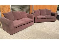 Brown Fabric suite 2&2 FREE DELIVERY WITHIN BELFAST!