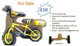 Bicycle for 3-5 yr old boy with stabilisers