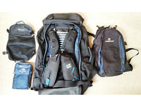 Lifeventure Kilima round the world style backpack including daysack, wash bag and towel
