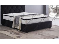 LIMITED OFFER DOUBLE BAKERSFIELD BED WITH COMFORTABLE MATTRESS == KINGSIZE AVAILABLE