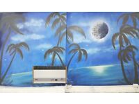 Mural artist, painting on any surface, graffiti, sign writing and more