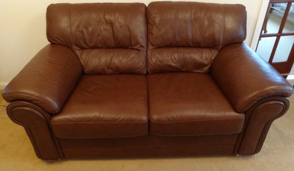 Chestnut Leather Sofa
