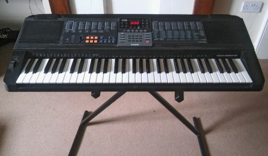 electronic keyboard instrument casio ctk 750 for sale with stand and manual in norwich. Black Bedroom Furniture Sets. Home Design Ideas