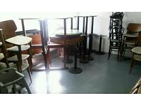 Cast iron table base restaurant or cafe