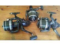 3x Shimano Original LC BIG PIT Reels + 3x brand new spools