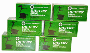 6 BOXES OF Dieters' Drink Bebida Dietetica Natural Leaf Brand Dieters108 Tea Bag
