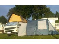 VW T25 Camper 5 traveling seats, 5 berth Camper with Super Viking Roof