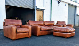 Duresta Panther in distressed brown leather RRP 12000 DELIVERY AVAILABLE