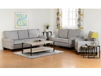 Brand New Grey Fabric Bailey Suites. Any combination of 3 seater sofas 2 seater sofa and armchairs.
