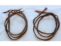 Speaker Cables, Van Den Hul, 2 x 2 Meters, Top Quality, MC CS 122, Sound Superb, BARGAIN