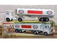 DINKY TOYS -AEC ESSO FUEL TANKER No. 945- VINTAGE MODEL CAR TRUCK LORRY -BOXED-