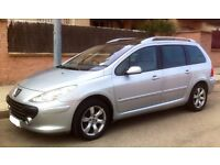 Peugeot 307 SW SE 1.6 HDI. Great condition. MOT Dec. 2017. Cambelt just changed. 1,800 GBP