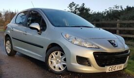 LOW MILEAGE. PEUGEOT 207. SUPERB CONDITION