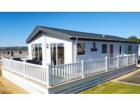 3 BEDROOM STATIC CARAVAN/ LODGE FOR SALE, NO SITE FEE'S TILL 2018, GAURUNTEED INCOME AVAILABLE