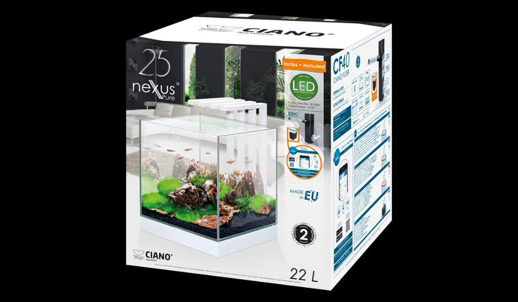 ciano nexus 25 led aquarium light 22 litres tank white. Black Bedroom Furniture Sets. Home Design Ideas