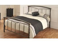 Almost new metal bed frame for sale - double