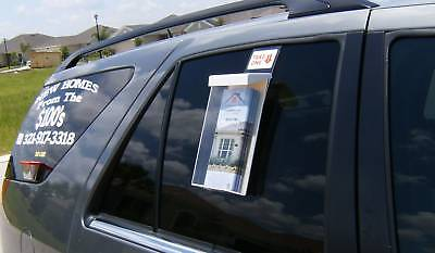 Window Hook Tri - Fold 4 x 9 Outdoor Brochure Holder Carpet Cleaning Vehicles
