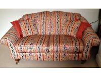 2 Seater Sturdy Settee/Sofa with 2 Armchairs. Delivery Possible
