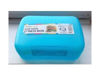 NEW SMALL PLASTIC SNACK BREAKFAST LUNCH BOX FOOD STORAGE LOCKING CLIP