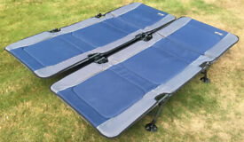 Pair of camping beds