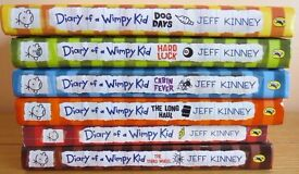 6 x Diary of a Wimpy Kid Books