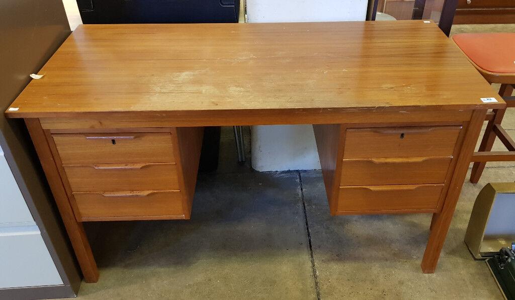 Bent Silberg Mobler Teak Office Desk
