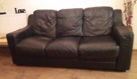 Quick Sale 3 & 2 seater and 1Arm chair ( leather)