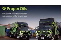 HGV Class 2 Multi-drop Driver required to deliver and collect new & used cooking oil