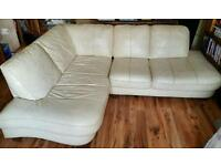 Free leather corner sofa