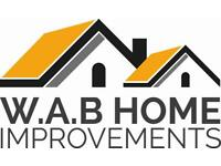 w.a.b home improvements ,painting & decorating , carpentry, fencing and decking ,bespoke work