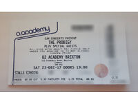 One ticket to see The Prodigy 23rd Dec 17