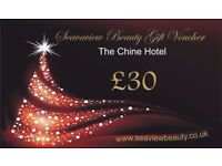 Christmas Gift Voucher from Seaview Beauty Studio (The Chine Hotel)