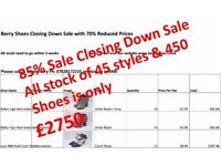85% Sale on All stock ::: Closing Down Sale All stock only £2750