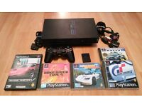 Sony Playstation 2 Console + PS1 / PS2 Racing Games Bundle - £25