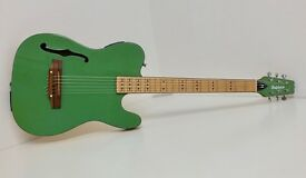 Rare HUTCHINS Slimline Semi Acoustic F-Hole Guitar