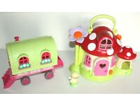 ELC Happyland Mushroom House with Figure and Gypsy Caravan