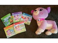 leap frog violet bundle (learn and read with me violet & violet touch and play teddy)