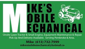 Lawn Tractor & Small Engines Onsite Repair.