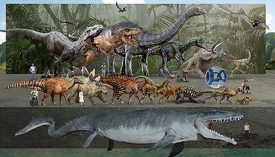 Jurassic World  Dinosaur Moster Fabric Art Cloth Poster 24inch x 13inch Decor 11 - Dinosaur Posters