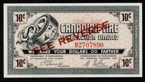 Canadian Tire Money 1962 Gas Bar 2nd Series CTC SR A610 B2707890 UNC  Est. $100