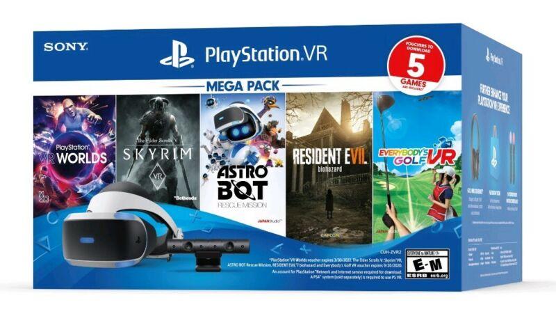 SEALED  Sony PlayStation PS VR Bundle - Five Game Mega Pack - 3004966