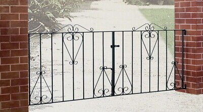 Classic Metal Scroll Driveway Gate 2438mm (8ft) GAP x 914mm H wrought iron CD13