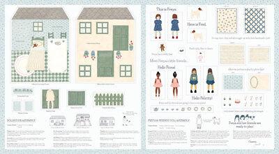 MODA Patchworkstoff FREYA AND FRIENDS DOLLHOUSE, DIY, Puppenhaus nähen + Zubehör ()