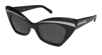 NEW KAREN WALKER BABOU PRESTIGIOUS DESIGNER RETRO GORGEOUS CAT EYE (Karen Walker Black Sunglasses)