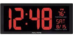 Big Digital Wall Clock Large LED Display School Office 14 Inch Red 75127