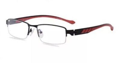 Octo 180 D49 49 SprinT 51-17-140 Black/red frames Men's Eyeglasses (Red Eyeglass Frames For Men)