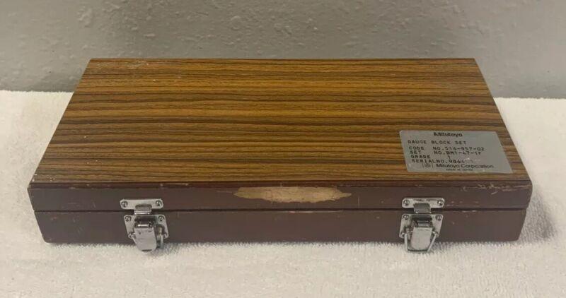 Mitutoyo 516-957-02 47 Pc. Metric Gage Block set Grade 1