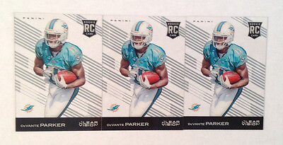 2015 Clear Vision Devante Parker Rc Lot Of  3  Rookies Dolphins  112 Panini