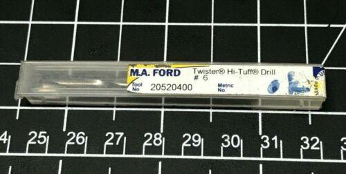 MA Ford 20520400, 6 Hi-Tuff, Stub Length Carbide Drill